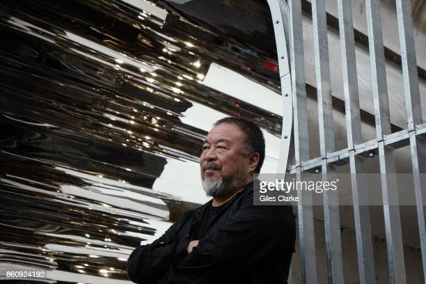 Chinese contemporary artist and activist Ai Weiwei meets the public at the unveiling of his new work 'Good Fences Make Good Neighbors' in Washington...