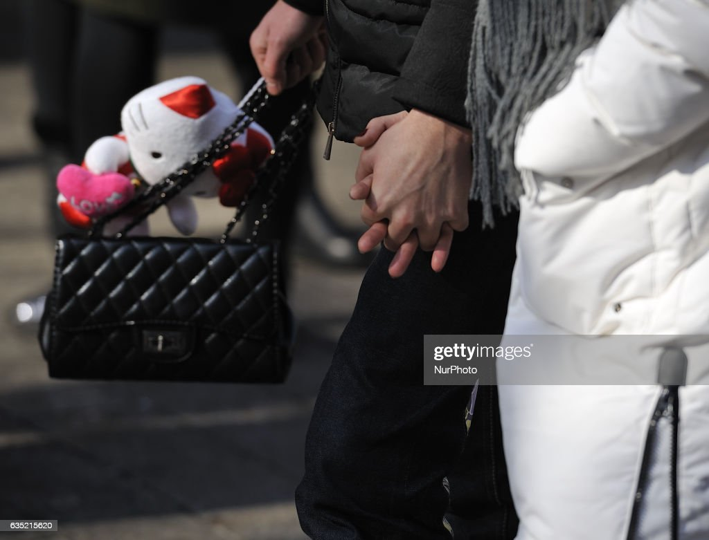 Valentine's Day in China : News Photo