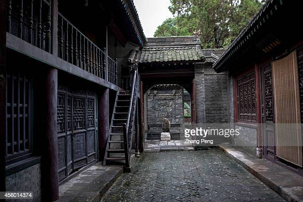 XI'AN SHAANXI CHINA A Chinese courtyard in the Xi'an great Mosque which is a blend of traditional Chinese and Islamic architecture constructed in 742...