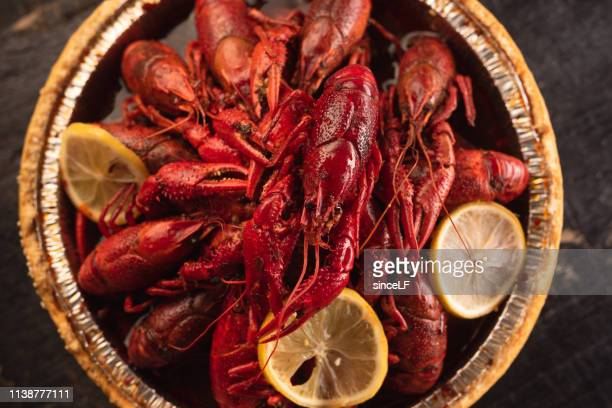 chinese crayfish - creole culture stock pictures, royalty-free photos & images