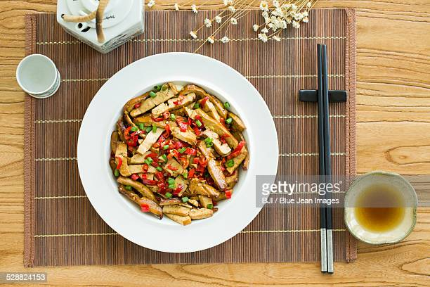 Chinese cuisine fried tofu