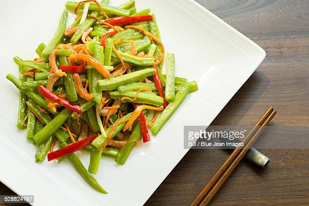 Chinese cuisine spicy bitter melon