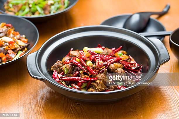 Chinese cuisine spicy chicken