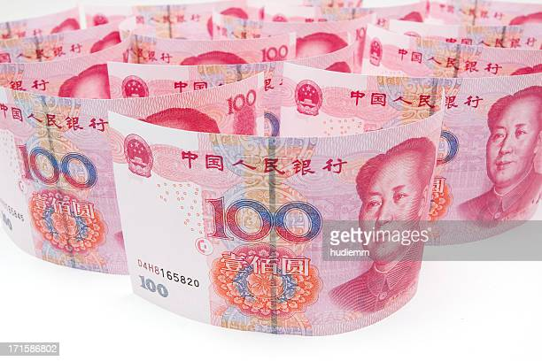 chinese currency-100 yuan note (renminbi) - mao tsé toung stockfoto's en -beelden