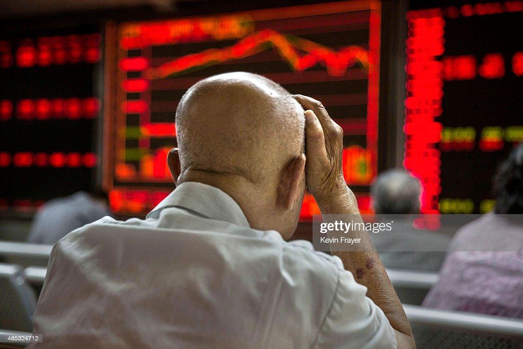 China Stock Markets Remain Volatile Amid Economy Fears : News Photo