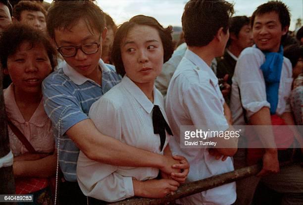 Chinese Demonstrators in Tiananmen Square