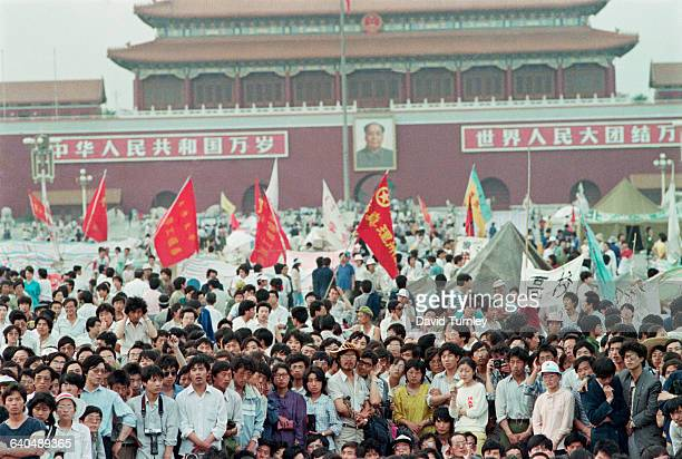 Chinese Demonstrators in Tiananmen Square