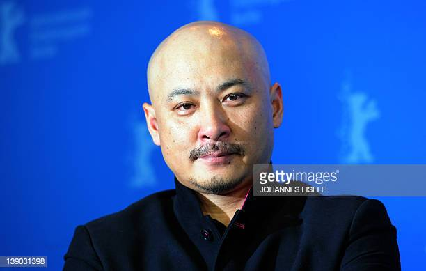 """Chinese director Wang Quan'an gives a press conference to present the film """"White Deer Plain"""" at the Berlinale film festival on February 15, 2012 in..."""