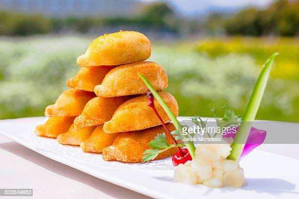 chinese dish sweet starter - jakob montrasio stock pictures, royalty-free photos & images