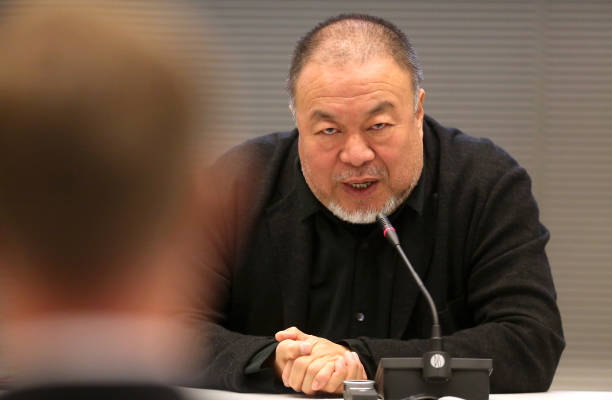 "DEU: Ai Weiwei Speaks At Panel Discussion ""Ich bin ein Hongkonger! Protecting Human Rights and Democracy"""