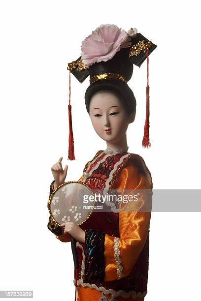 chinese doll - qing dynasty stock photos and pictures