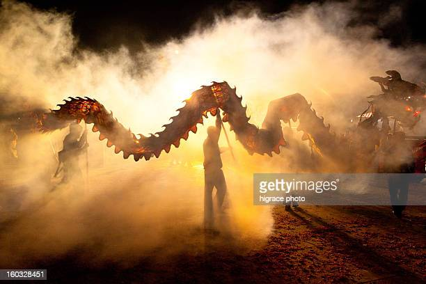 chinese dragon dance - chinese dragon stock pictures, royalty-free photos & images