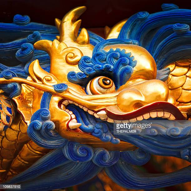 chinese dragon head - chinese dragon stock photos and pictures