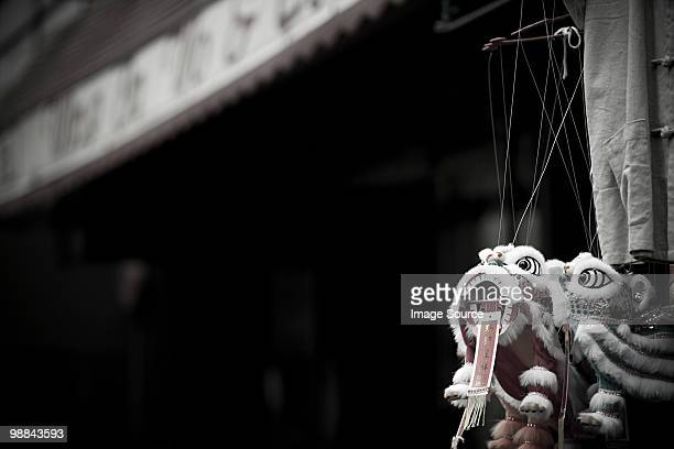 chinese dragon in china town new york - desaturated stock pictures, royalty-free photos & images