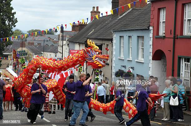 Chinese dragon in the Hillsborough International Oyster Festival Parade in County Down