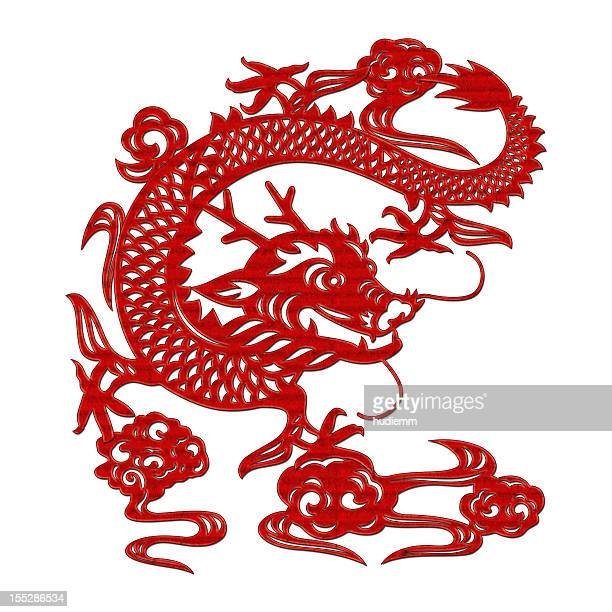 Chinese Dragon (Clipping Path!!) isolated on white background