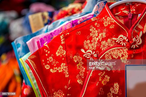 Chinese Dresses on Sale in Chinatown, San Francisco