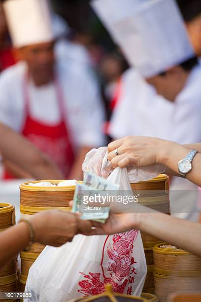 Chinese dumpling steamers in Bangkok Chinatown
