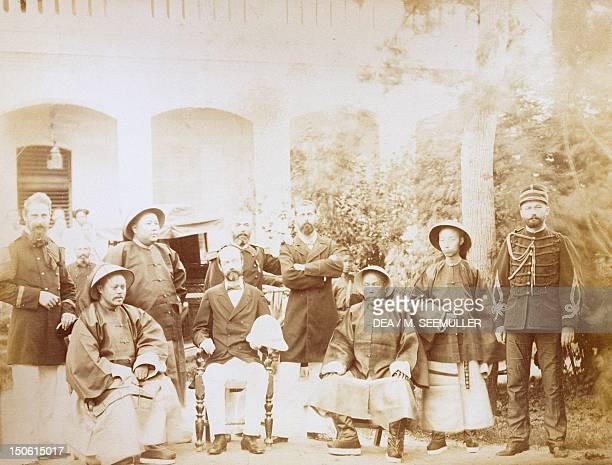 Chinese envoy sent to deal with the preliminaries of peace after the Battle of LanSon in Northern Vietnam Colonial FrancoChinese War France 19th...