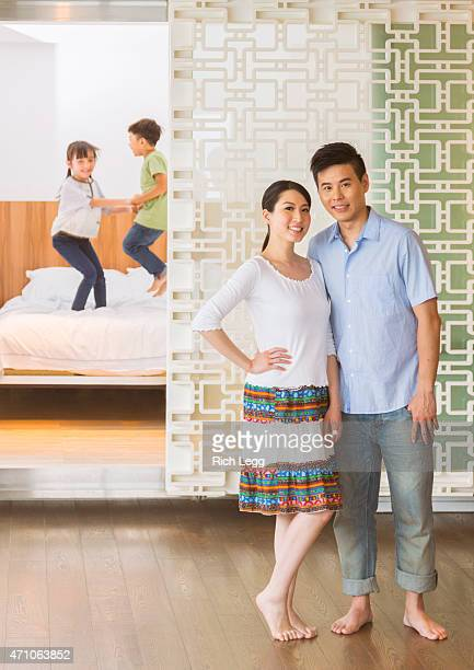 Chinese Family in a Home