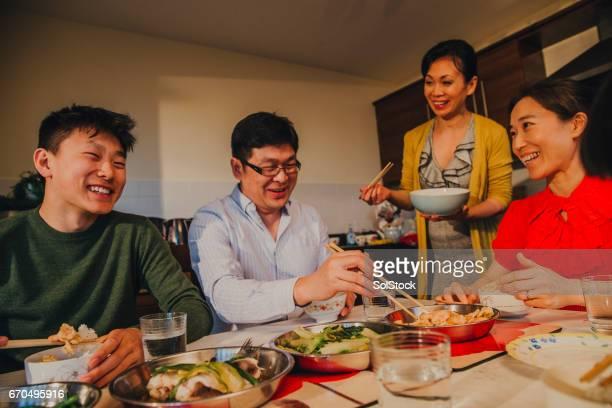 Chinesische Familie in Küche!