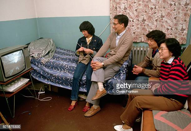 Chinese Family Watching Television