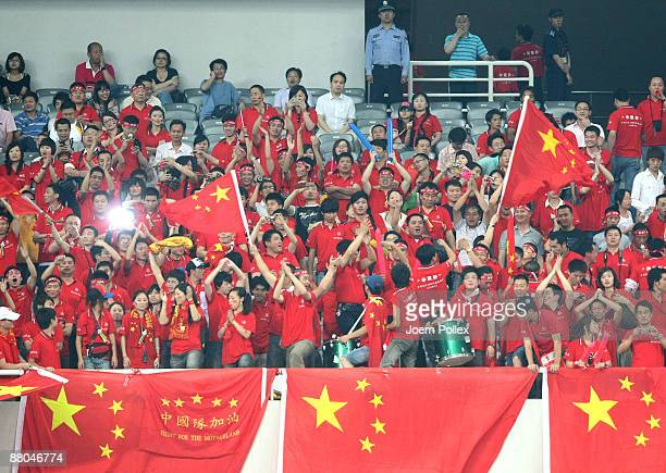 Chinese fans are seen during the international friendly match between China and Germany at Shanghai Stadium on May 29 2009 in Shanghai China