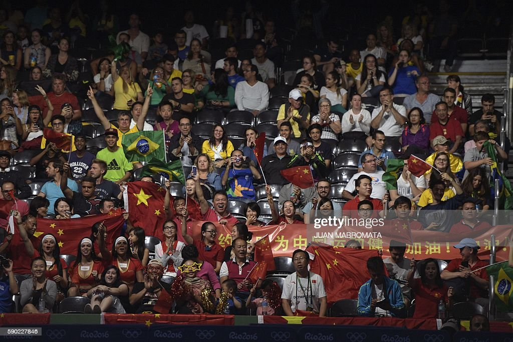 TABLE TENNIS-OLY-2016-RIO-CHN-GER-FANS : News Photo