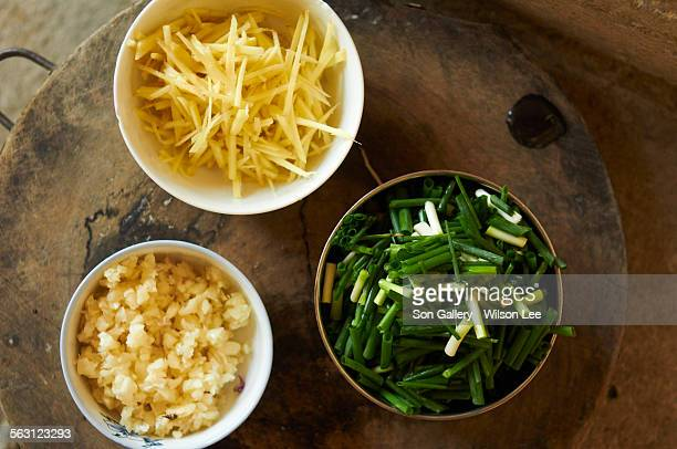 chinese farmhouse dish ingredients - ginger lee fotografías e imágenes de stock