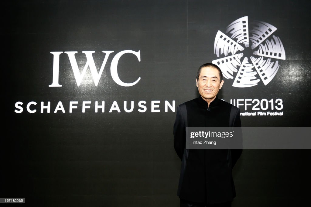 Chinese film director Zhang Yimou attends the exclusive 'For the Love of Cinema' event hosted by Swiss watch manufacturer IWC Schaffhausen in the role as new sponsor of the Beijing International Film Festival, at the Ming Dynasty City Wall on April 22, 2013 in Beijing, China.