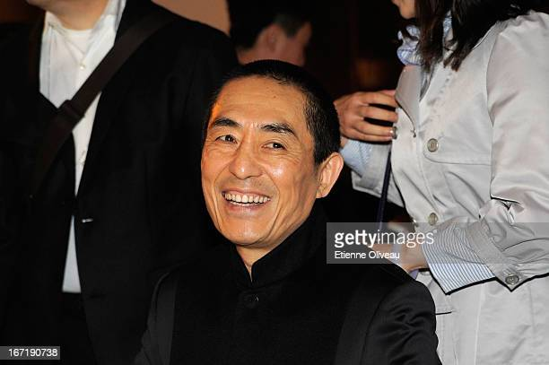 Chinese film director Zhang Yimou attends the exclusive 'For the Love of Cinema' event hosted by Swiss watch manufacturer IWC Schaffhausen in the...