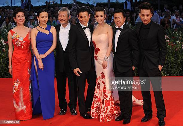 Chinese film producer Nansun Shi director Tsui Hark actress Carina Lau actor Andy Lau actress Li Bingbing actor Deng Chao and producer Zhonglei Wang...
