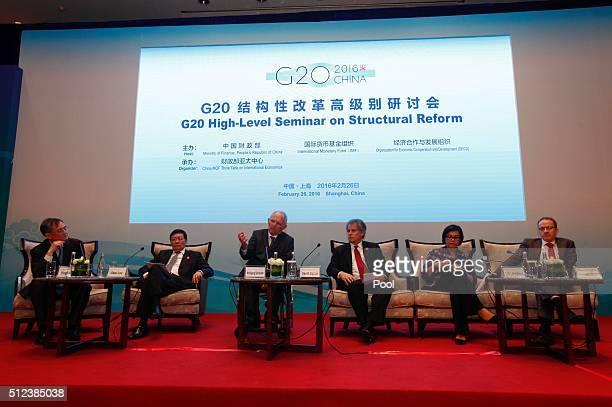 Chinese Finance Minister Lou Jiwei German Finance Minister Wolfgang Schaeuble International Monetary Fund First Deputy Director David Lipton World...
