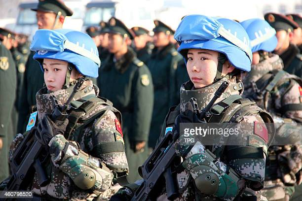 Chinese first peacekeeping infantry battalion will go to South Sudan for peacekeeping mission on 22th December, 2014 in Laiyang, Shandong, China.