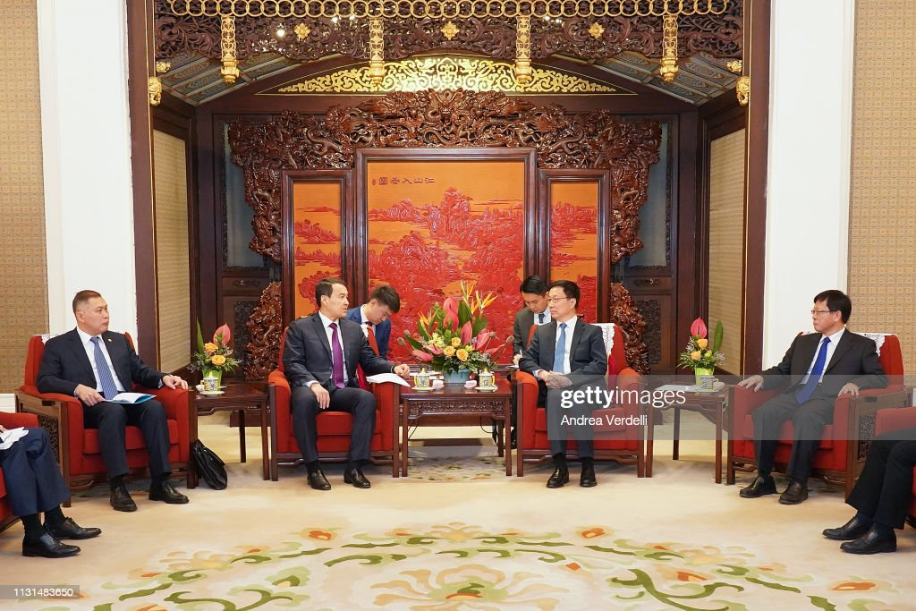 CHN: Kazakhstan Deputy Prime Minister Alikhan Smalloy Visits China