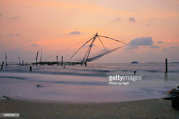 Chinese fishing net at Fortkochi