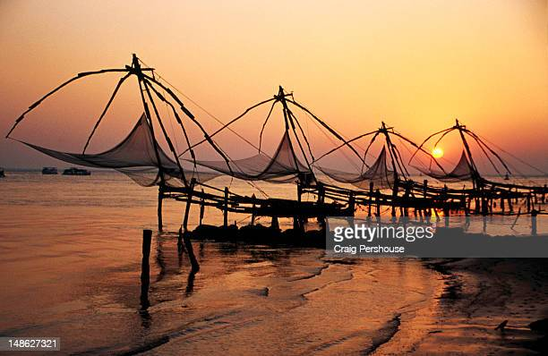 Chinese fishing nets at Vypeen Island.