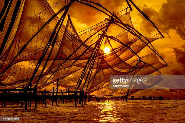 Chinese fishing nets,Cochin,Kerala.