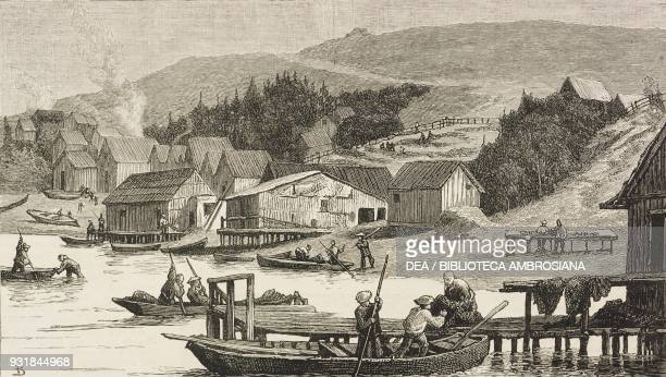 A Chinese fishing village scenes in and around San Francisco California United States of America illustration from the magazine The Graphic volume...