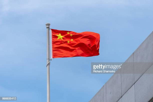 chinese flag - chinese flag stock pictures, royalty-free photos & images