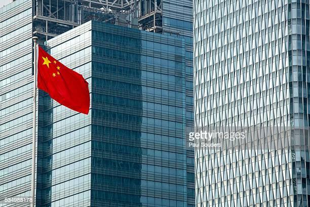 Chinese Flag, Shanghai, China