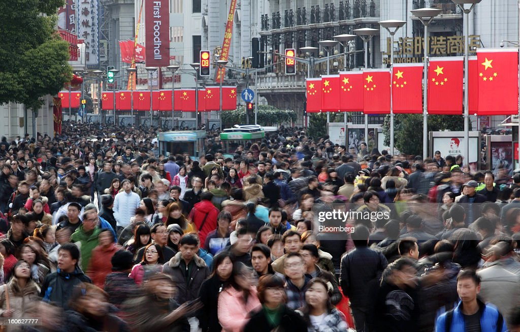 Shoppers And Retail Images Ahead Of The Lunar New Year Holiday