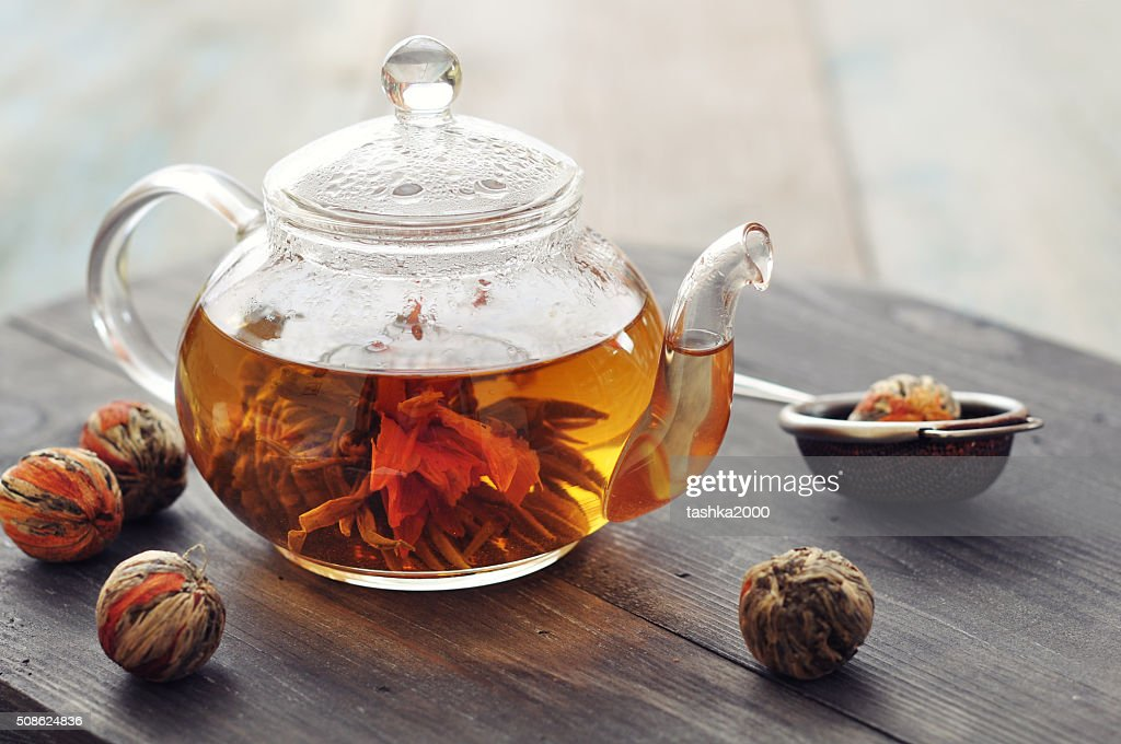 Chinese flowering tea : Stock Photo