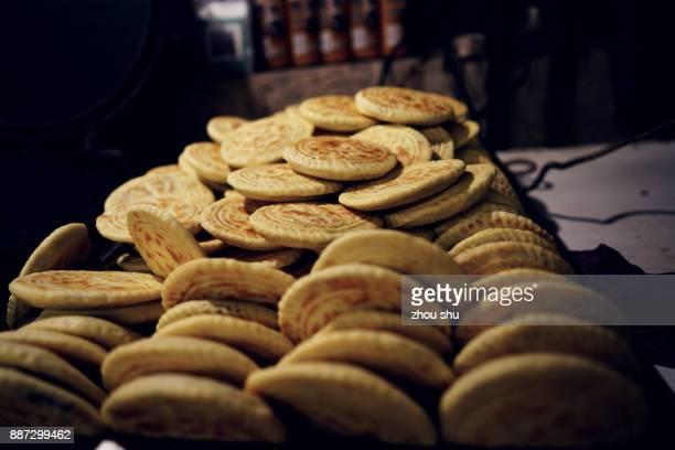 Chinese folk snacks Baked wheat cake
