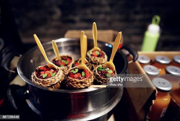 Chinese folk snacks Rice dumplings
