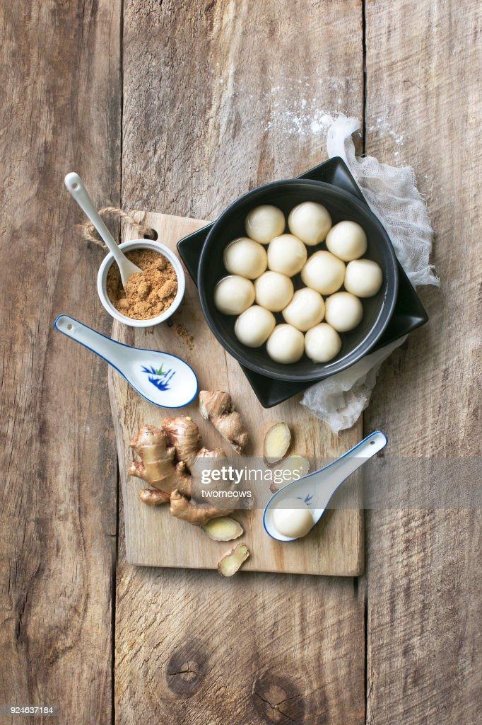 Chinese Food Tang Yuan Glutinous Rice Ball Hot Soup ...