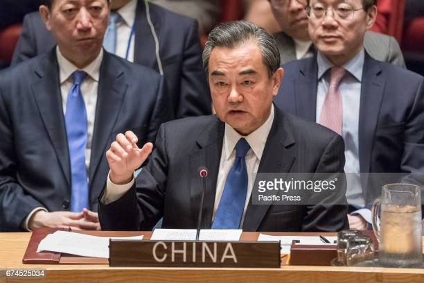 Chinese Foreign Minister Wang Yi addresses the Security Council. The United Nations Security Council convened a ministerial-level meeting regarding...