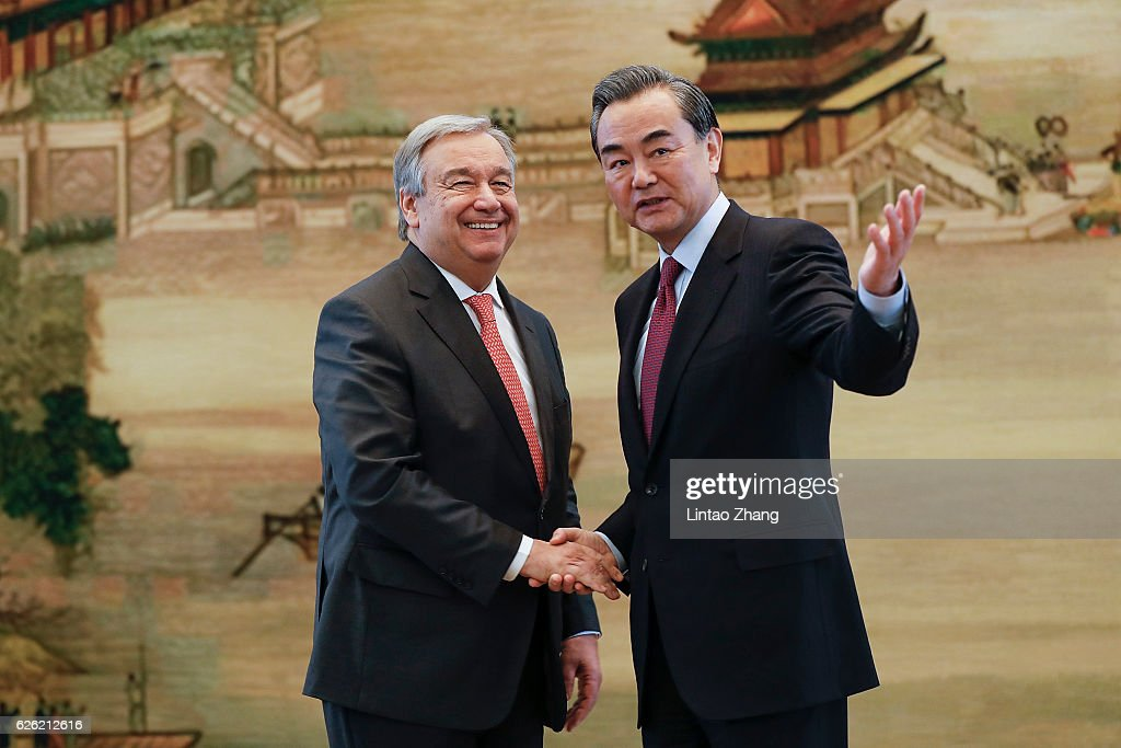 Joint Press Conference By UN Secretary General Designate Antonio Guterres & Chinese Foreign Minister