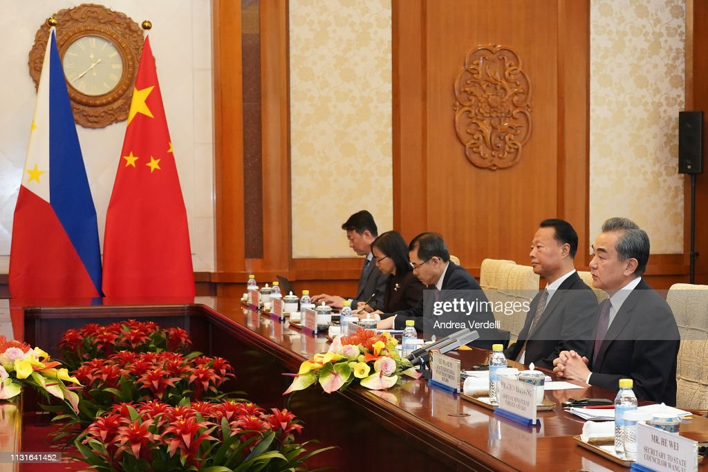 CHN: Philippine Secretary Of Foreign Affairs Meets Chinese Foreign Minister Wang Yi