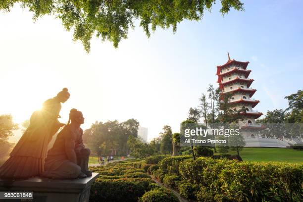 chinese garden in singapore - singapore stock pictures, royalty-free photos & images